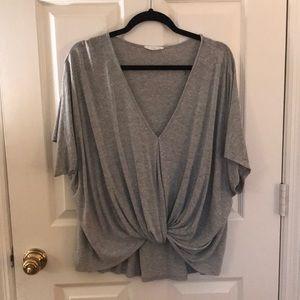 Grey Lush short sleeve top